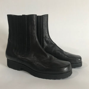 Taryn Rose Leather Chelsea Boots